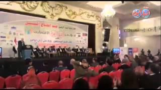 لحظة إعلان فوز مصر بمقعد مجلس الأمن بمؤتمر اخبار اليوم الاقتصادي