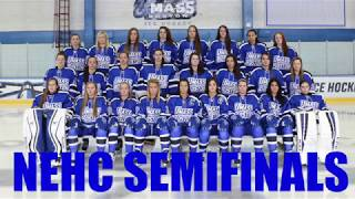 NEHC Semifinals Promo: #3 UMass Boston Women's Hockey vs #2 Manhattanville College