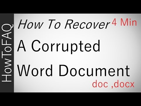 How To Recover A Corrupted Word File Document Repair Fix Extract Text .doc .docx