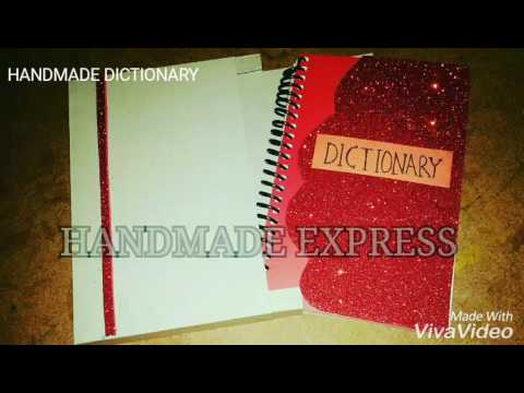 HANDMADE DICTIONARY SCHOOL PROJECT CLASS 4TH