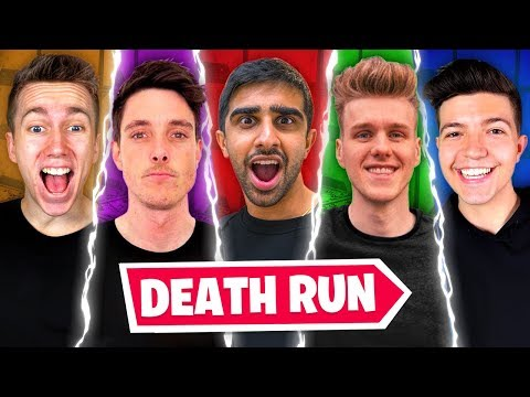 The YOUTUBER DEATH RUN in Fortnite Creative