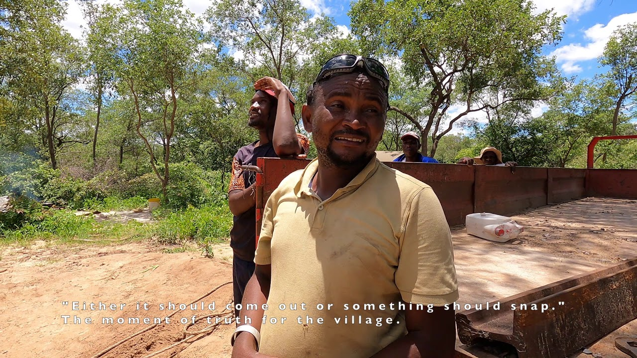 Crisis at Nkosikazi Village. The Will's Wells team & villagers make an epic effort to free the pipes