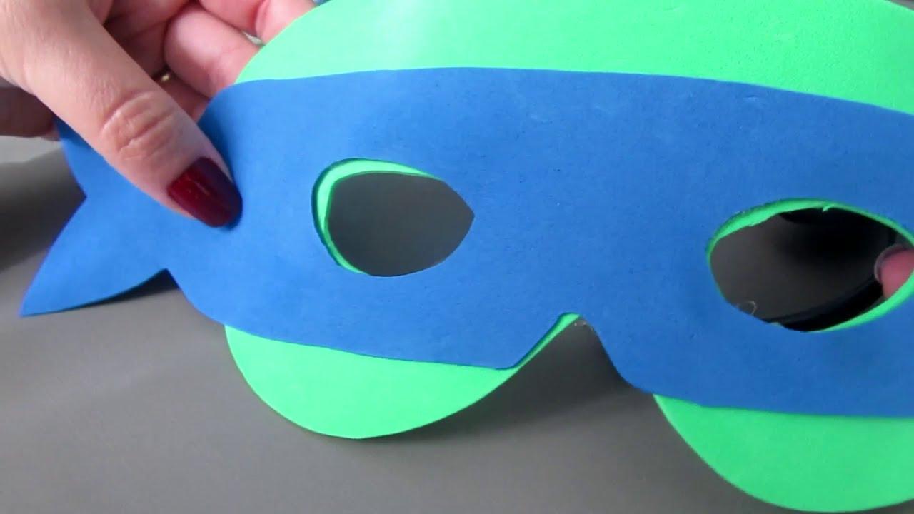 Mascara Tartarugas Ninjas Facil De Fazer Youtube