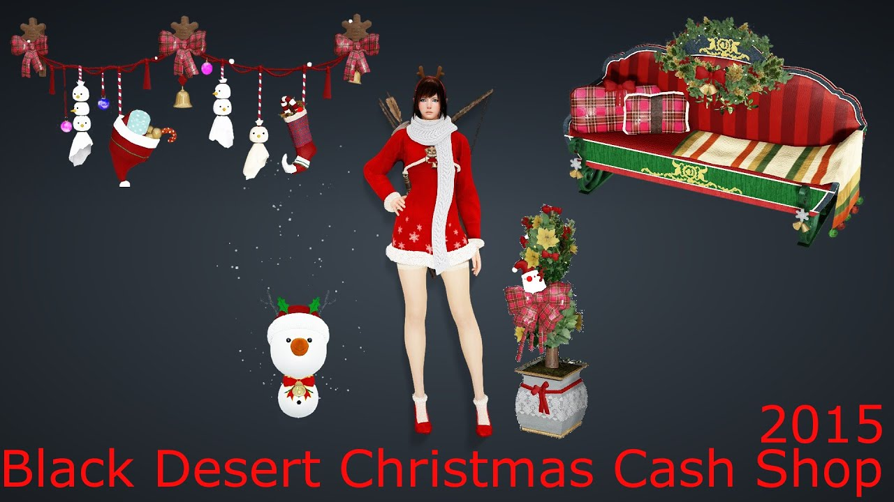 Black Desert Online - Christmas cash shop Dec. 2015 - YouTube