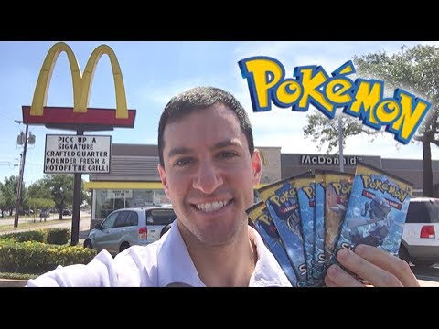 POKEMON CARDS PACK OPENING AT McDONALDS! - Ultra Ball! Where You At?!