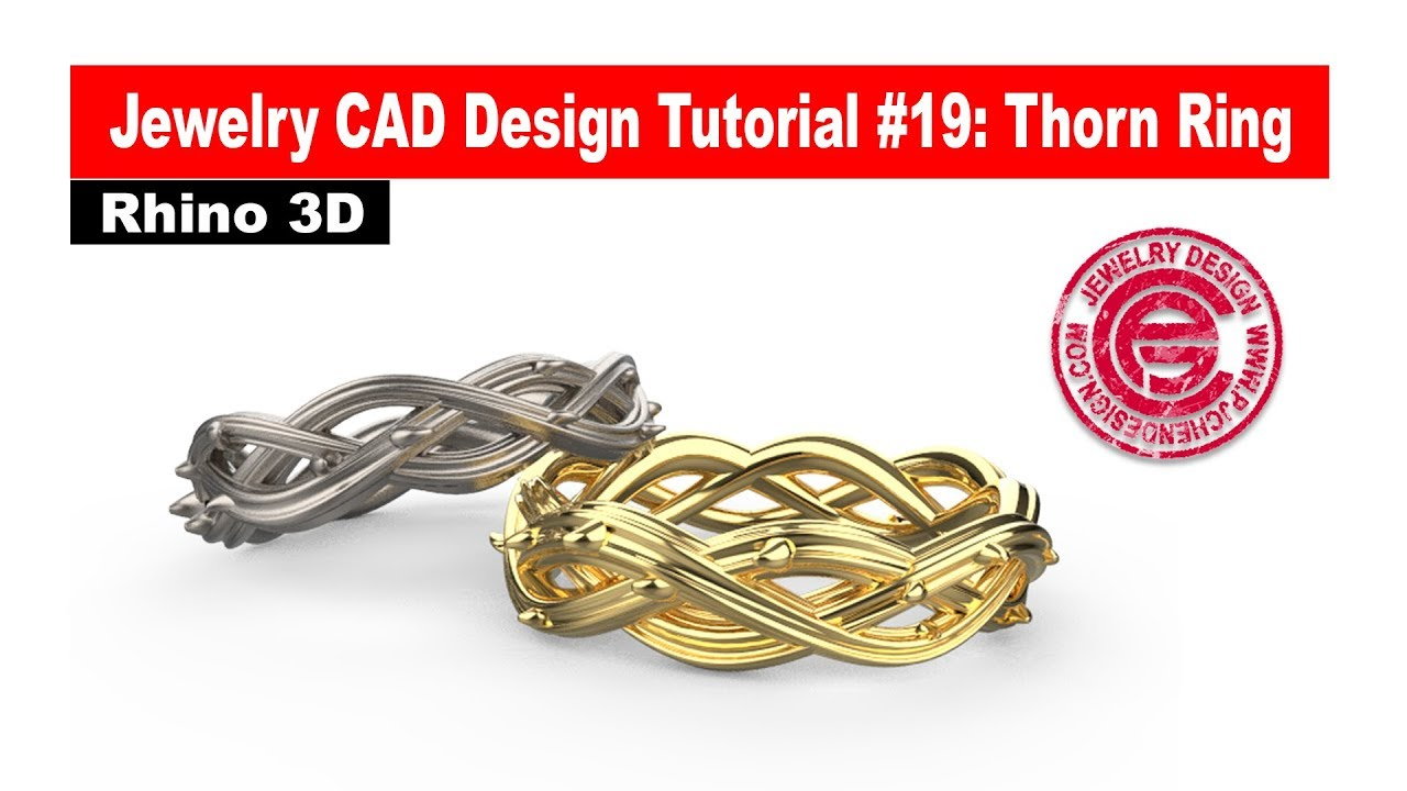 Jewelry CAD Design Tutorial #19: Thorn Ring with Rhino 3D (有中文字幕)