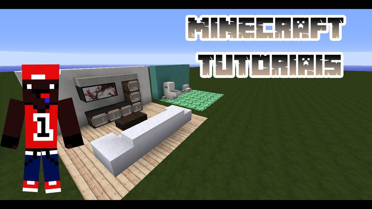 Minecraft tutoriais 2 como fazer privada no minecraft e for Sala de estar no minecraft