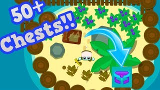 STARVE.IO HUGE 50+ TREASURE CHEST OPENING!! // Building An Island Base (Starve.io Update)