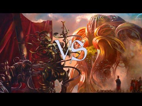 MtG Sealed Gameplay - U/W Flyers VS G/R Energy
