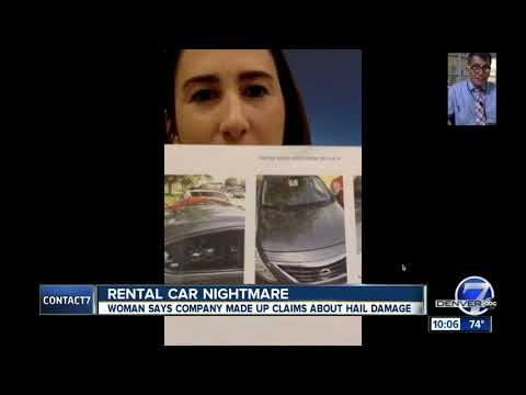 Nurse says she's being charged for rental car hail damage that doesn't exist
