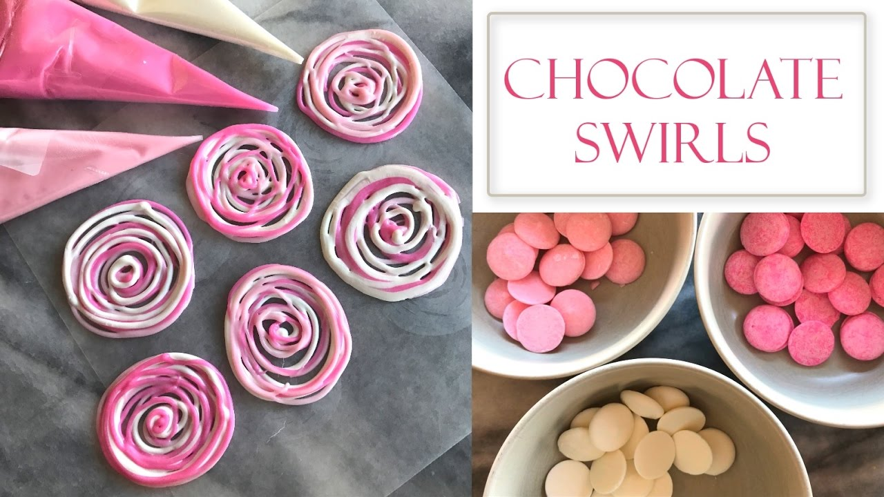 How To Make Chocolate Decorations Easy Swirl Designs Youtube