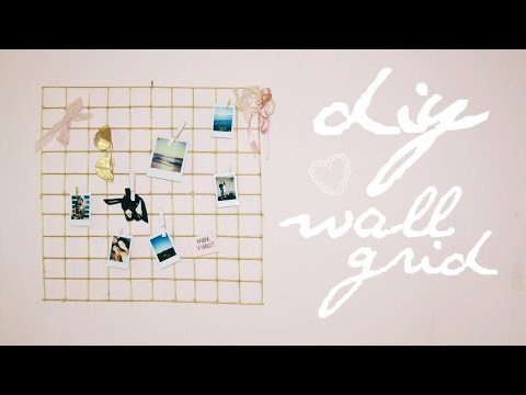 DIY Urban Outfitters Wall Grid (Cheap & easy!)