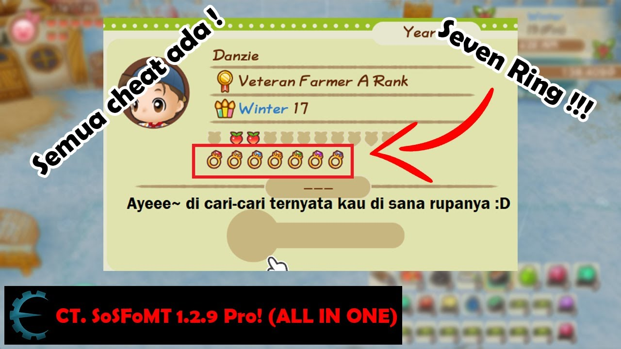 Ct Sosfomt 1 2 9 Pro Seven Ring In Story Of Seasons Friends Of Mineral Town Pc Youtube