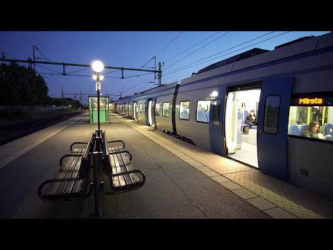 Sweden, Stockholm, train ride from Upplands Väsby to Rosersberg, 1X elevator