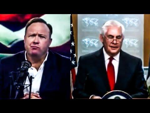 Watch Alex Jones\' Hilarious Live Reaction to Rex Tillerson\'s Farwell Speech