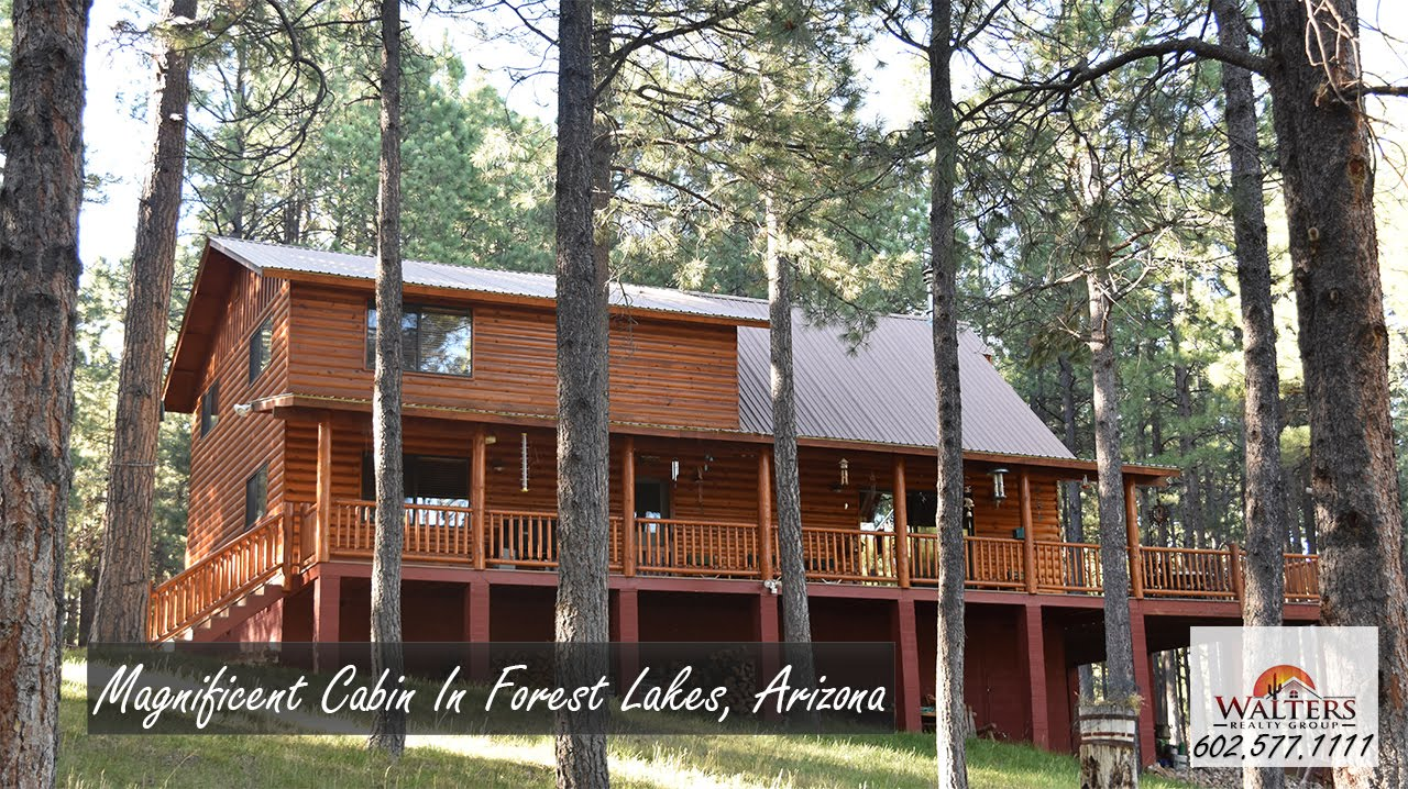cabin for lake az arizona lakeside in sale rainbow right cabins watch on youtube