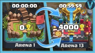 FROM 0 TO 4000 TROPHIES FOR 60 MINUTES! SO FAST LADDER PUSH / CLASH ROYALE