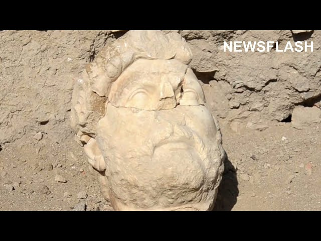 Incredibly Well Preserved 2,000 Year Old Statue Of Roman Emperor Hadrian Unearthed In Turkey