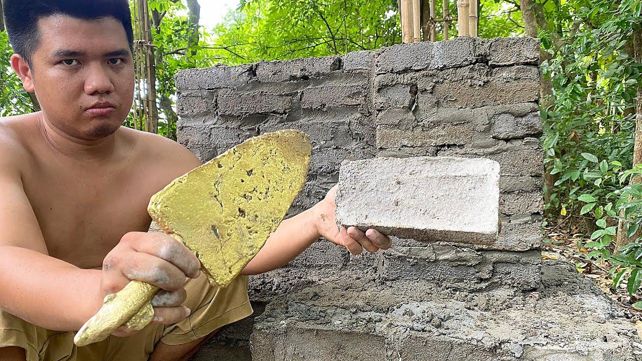 Primitive Skills: Building house antique Egypt by primitive technology Minecraft in rainforest #5