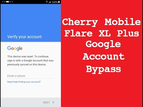 Cherry Mobile Flare XL Plus FRP Bypass