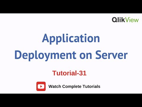 How to Deploy the Application on Server| QlikView Server & Publisher Tutorials 31