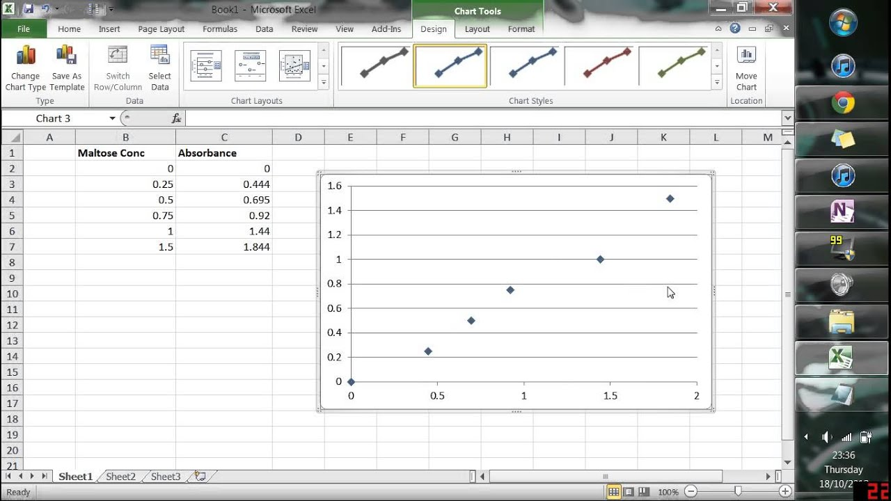 how to add extrapolation curve excel