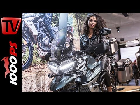 Triumph Neuheiten 2018 - Moto 2 Daytona Soundcheck, Tiger 800, Tiger 1200 XC, Tramontana