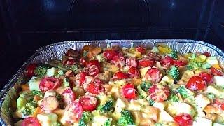 Экспресс-видео рецепт. Быстро и вкусно. Овощи в сливочном соусе.