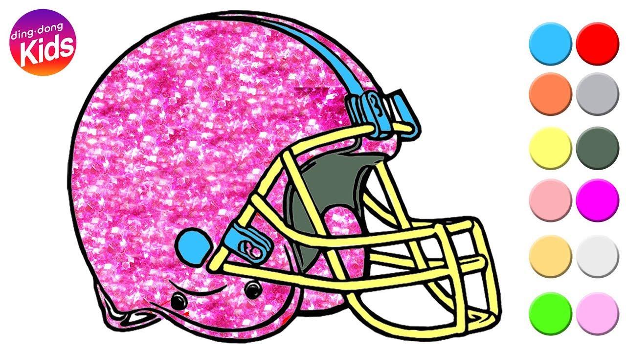 Glitter Football Helmet Drawing Easy Step By Step Youtube