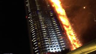 Dubai Fire at the Address Hotel Downtown Escape from the Calabar
