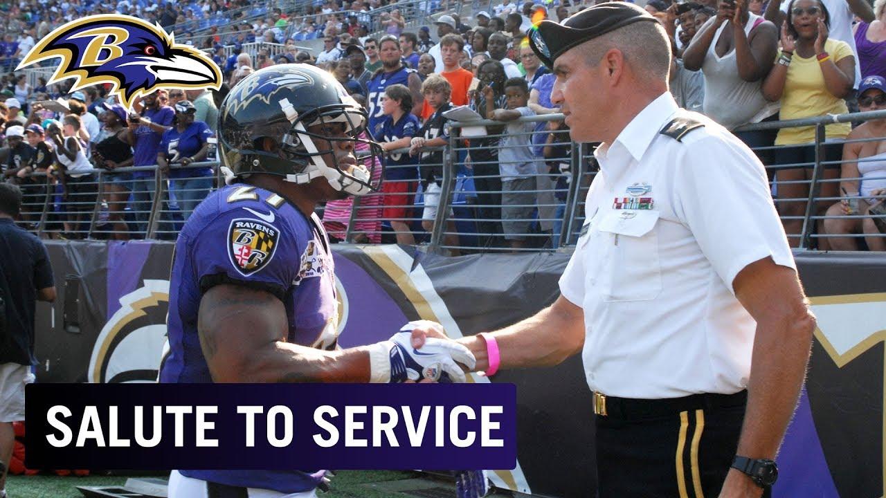 reputable site 440e0 d89ed Salute to Service: Military Appreciation | Baltimore Ravens