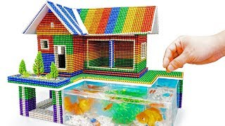 DIY - Build A Miniature Aquarium House Or Swimming Pool With Magnetic Balls (ASMR) - Magnet Balls