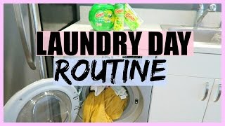 WEEKLY LAUNDRY DAY ROUTINE!