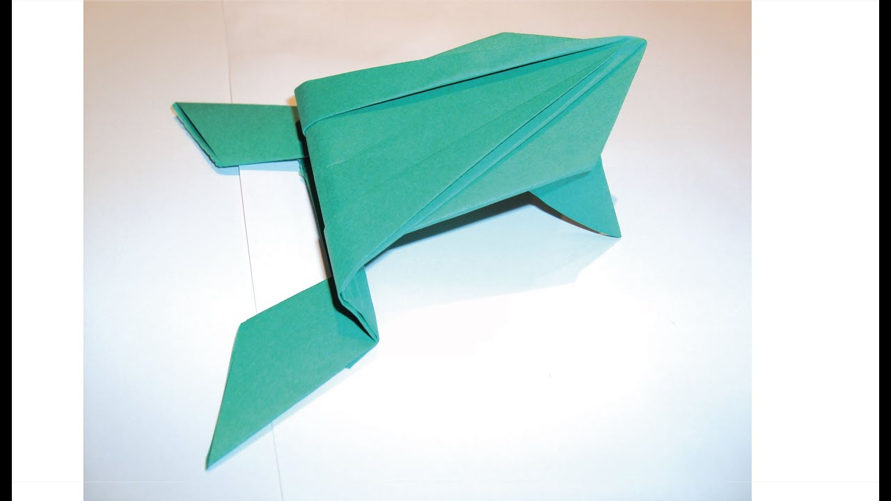 My origami jumping frog - YouTube - photo#46