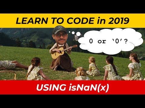 JavaScript Tutorial: Using isNaN(x) thumbnail