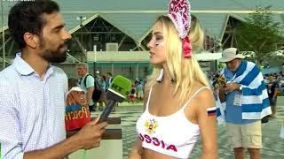 Наталья Немчинова (Андреева) дала журналисту интервью Самая красивая болельщица про Россиию ЧМ 2018