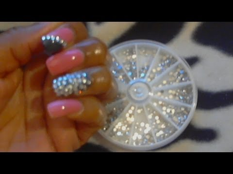 Diy quick rhinestone trend nail design bling bling youtube diy quick rhinestone trend nail design bling bling prinsesfo Image collections