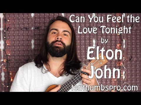Can You Feel The Love Tonight - Elton John - Easy Beginner Song Ukulele Tutorial
