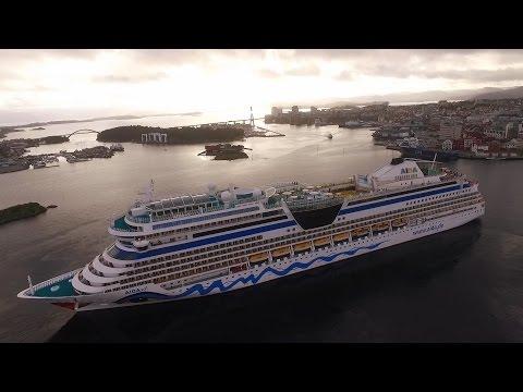 MS AIDAsol cruise DRONE fly around edit / Norway / Stavanger / 9.9.2016.