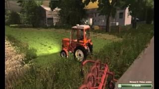 Hermann Brunner gra w LS-2013 2# | Fragment sianoków na dwa traktory.