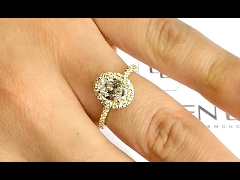 1 carat Oval Diamond Halo Engagement Ring - YouTube 563fe4d1a9