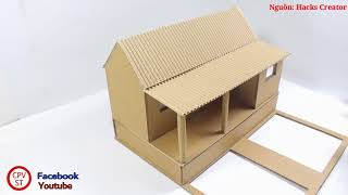 how to make a paper doll house