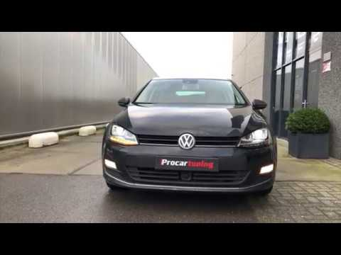 vw golf  vii drl xenon koplampen met dynamisch led knipperlicht pro car tuning youtube