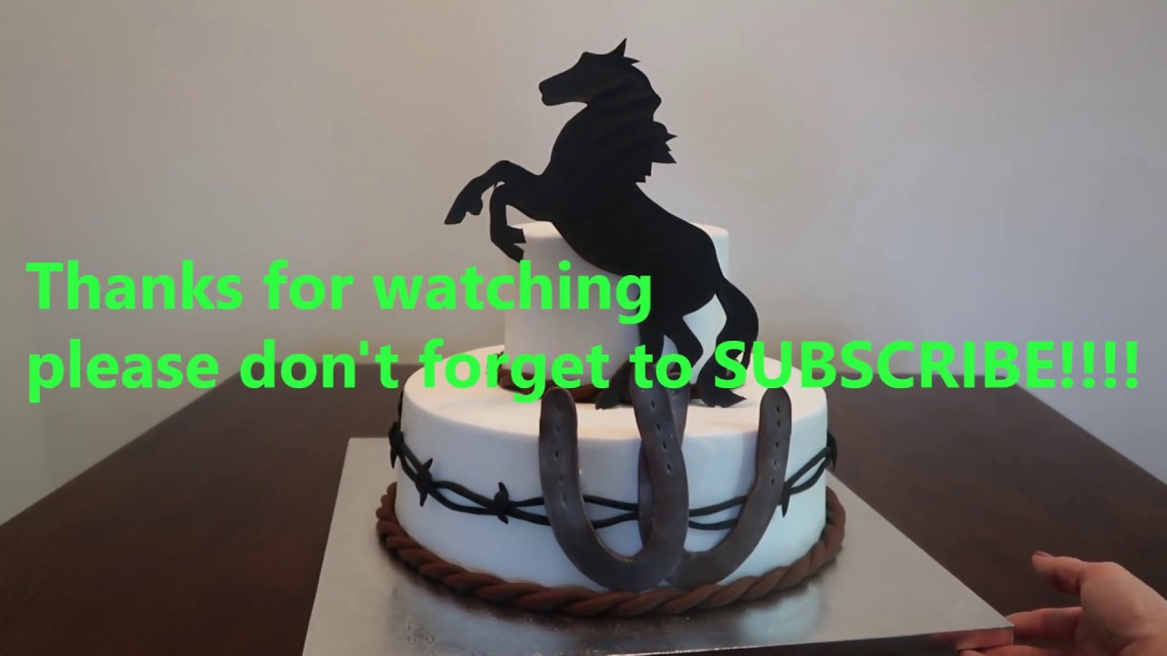 Cowboy Cake Cowboy Party Ideas Diy How To Youtube