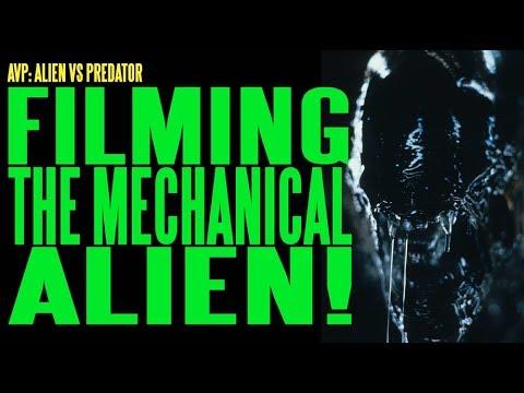 AVP Filming the Mechanical Alien ADI BTS