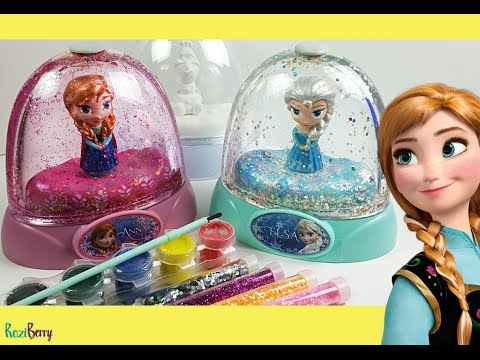 DISNEY FROZEN GLITZI GLOBES inspired / Paint your own glitter dome
