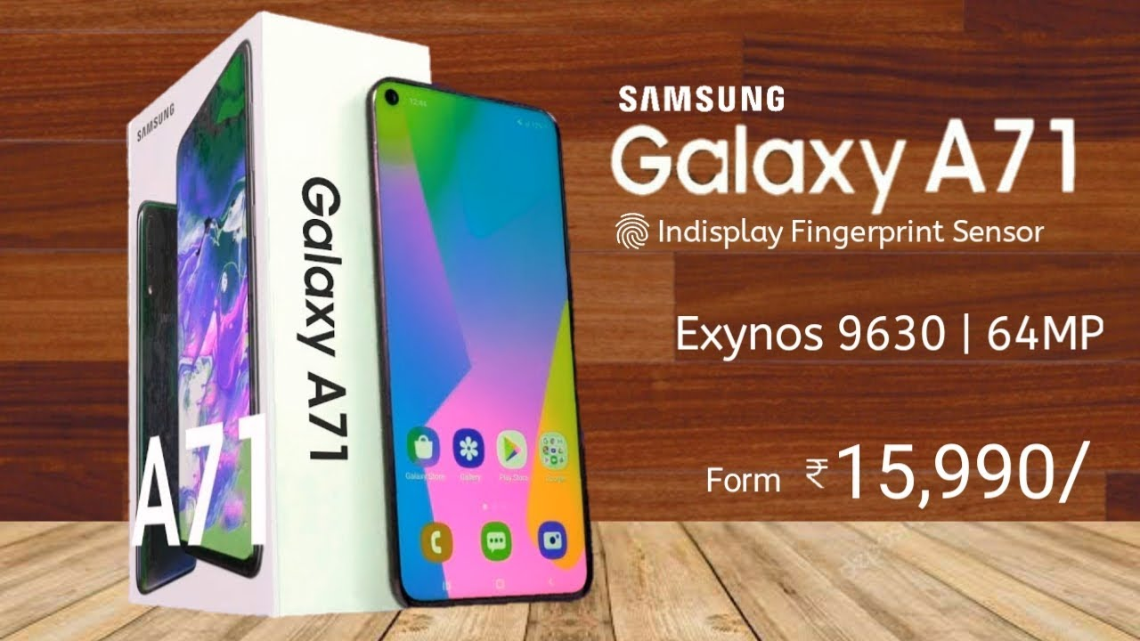 Samsung Galaxy A71 Introduction Launch Date Price