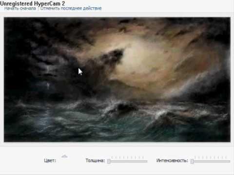 """""""Bailando en el Mar."""" Painting Sergey Lebedev (You Tube ver.)"""