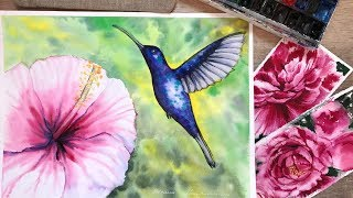 Видео урок рисования акварелью