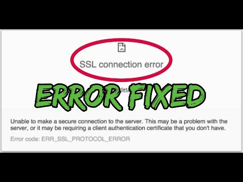 How to Fix SSL Connection Error on Google Chrome | Really Easy and 100%  Working